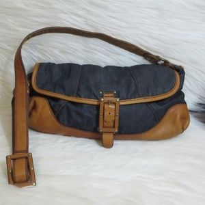 Lucky Brand | Denim Leather Bag
